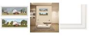 "Trendy Decor 4U Trendy Decor 4U Billy Jacobs Summer/Spring Seasonal 2-Piece Vignette, White Frame, 39"" x 15"""