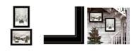 "Trendy Decor 4U Antique Christmas 2-Piece Vignette by Lori Deiter, Black Frame, 19"" x 15"""