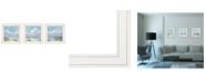 """Trendy Decor 4U Trendy Decor 4U Beautiful Day I, II, III 3-Piece Vignette by Georgia Janisse, White Frame, 15"""" x 15"""""""