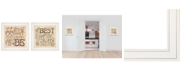 """Trendy Decor 4U Together / Each Other 2-Piece Vignette by Deb Strain, White Frame, 15"""" x 15"""""""