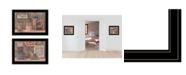 "Trendy Decor 4U God Bless / Sweet Land 2-Piece Vignette by Pam Britton, Black Frame, 19"" x 15"""