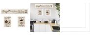 """Trendy Decor 4U Kitchen Friendship Collection III 3-Piece Vignette by Millwork Engineering, White Frame, 33"""" x 10"""""""