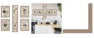 """Trendy Decor 4U Kitchen Friendship Collection 5-Piece Vignette by Millwork Engineering, Taupe Frame, 10"""" x 32"""""""