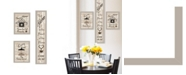 "Trendy Decor 4U The Kitchen Collection I 3-Piece Vignette by Millwork Engineering, Sand Frame, 10"" x 32"""