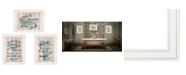 "Trendy Decor 4U Bathroom Humor 3-Piece Vignette by Debbie DeWitt, White Frame, 19"" x 15"""