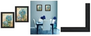 """Trendy Decor 4U Paris Blue Collection By Ed Wargo, Printed Wall Art, Ready to hang, Black Frame, 30"""" x 19"""""""