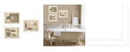 "Trendy Decor 4U Trendy Decor 4U Garden Bath Collection By Pam Britton, Printed Wall Art, Ready to hang, White Frame, 42"" x 18"""