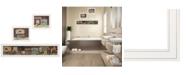 """Trendy Decor 4U COUNTRY BATH 1 3-Piece Vignette by Pam Britten, White Frame, 39"""" x 14"""""""