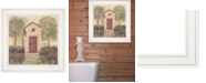 """Trendy Decor 4U Folk Art Outhouse III by Pam Britton, Ready to hang Framed Print, White Frame, 15"""" x 15"""""""