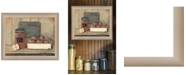 """Trendy Decor 4U Apple Butter by Pam Britton, Ready to hang Framed print, Taupe Frame, 17"""" x 14"""""""