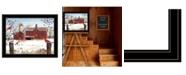 "Trendy Decor 4U Winter Friends by Billy Jacobs, Ready to hang Framed Print, Black Frame, 27"" x 21"""
