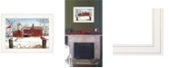 """Trendy Decor 4U Winter Friends by Billy Jacobs, Ready to hang Framed Print, White Frame, 19"""" x 15"""""""