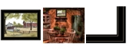 """Trendy Decor 4U The Old Spring House by Billy Jacobs, Ready to hang Framed Print, Black Frame, 19"""" x 15"""""""