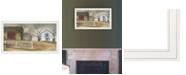 "Trendy Decor 4U Trendy Decor 4U The Old Stone Barn by Billy Jacobs, Ready to hang Framed Print, White Frame, 33"" x 19"""