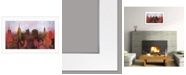 "Trendy Decor 4U Trendy Decor 4U NYC Skyline by Cloverfield Co, Ready to hang Framed Print, White Frame, 21"" x 15"""