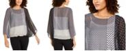 Alfani Angel-Sleeve Sheer Blouson Top, Created for Macy's