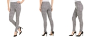 INC International Concepts INC Women's Glen Plaid Leggings with Control Waistband, Created For Macy's