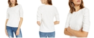 INC International Concepts INC Petite Gathered-Sleeve T-Shirt, Created For Macy's