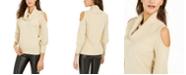Thalia Sodi Cold-Shoulder Cowl-Neck Sweater, Created For Macy's