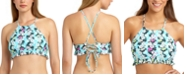 California Waves Floral-Print High-Neck Bikini Top, Available in D/DD, Created for Macy's