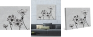 """Creative Gallery Vintage Like Flowers in Black White 36"""" x 24"""" Canvas Wall Art Print"""