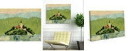 "Creative Gallery Slovenia Island Sanctuary on Lake Bled 24"" x 20"" Canvas Wall Art Print"