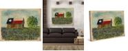 "Creative Gallery Texas Barn with Bluebonnets 36"" x 24"" Canvas Wall Art Print"