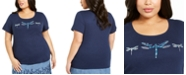 Karen Scott Plus Size Cotton Dragonfly T-Shirt, Created For Macy's