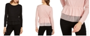 INC International Concepts INC Tulle Peplum Top, Created for Macy's