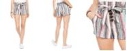 Rewash Juniors' Striped Belted Shorts