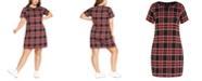 City Chic Trendy Plus Size Tartan Love Plaid Dress