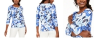 JM Collection Printed Metallic Top, Created For Macy's