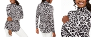 JM Collection Cheetah-Print Turtleneck Top, Created For Macy's