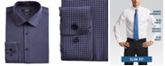 Jones New York Men's Slim-Fit Performance Stretch Cooling Tech Navy Blue/Pink Square-Print Dress Shirt