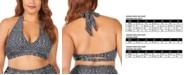 Raisins Curve Trendy Plus Size Juniors' Mahina Printed Whitehaven Halter Bikini Top