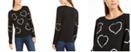 INC International Concepts INC Printed Tie-Dyed Hearts Sweatshirt, Created for Macy's