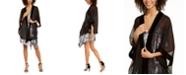 INC International Concepts INC Velvet-Border Kimono Wrap, Created For Macy's