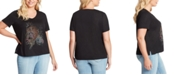 Jessica Simpson Trendy Plus Size Ace Tulip-Sleeve Graphic T-Shirt