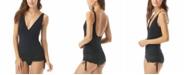Carmen Marc Valvo Side-Tie Tummy Control Swim Dress