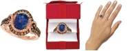 Le Vian Blueberry Tanzanite (1-1/2 ct. t.w.) & Diamond (3/4 ct. t.w.) Statement Ring in 14k Rose Gold