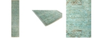 """Timeless Rug Designs CLOSEOUT! One of a Kind OOAK2799 Teal 2'5"""" x 9'10"""" Runner Rug"""