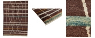 """Timeless Rug Designs One of a Kind OOAK3973 Cocoa 6'3"""" x 9' Area Rug"""