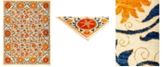 "Timeless Rug Designs One of a Kind OOAK3044 Tangerine 9'2"" x 12'4"" Area Rug"