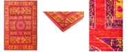 """Timeless Rug Designs CLOSEOUT! One of a Kind OOAK2974 Red 5'10"""" x 8'8"""" Area Rug"""