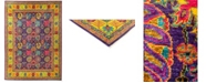 """Timeless Rug Designs CLOSEOUT! One of a Kind OOAK2890 Purple 8'9"""" x 12'1"""" Area Rug"""