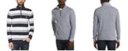 Original Penguin Men's Stripe Jacquard 1/4-Zip Fleece Sweater