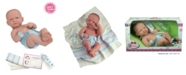"""JC TOYS La Newborn First Day All Vinyl Realistic 14"""" Anatomically Correct Real Boy Baby Doll in Diaper for Children 2 Years and Older, Designed by Berenguer"""