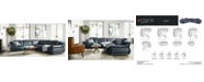 """Furniture Daisley 6-Pc. Leather """"L"""" Shaped Sectional Sofa with 2 Power Recliners"""