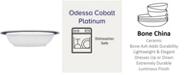 Noritake Odessa Cobalt Platinum Oval Vegetable Bowl, 24 Oz.