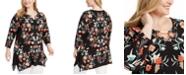 JM Collection Plus Size Keyhole Top, For Macy's